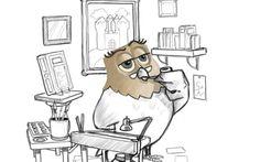 Croquis : WIP de la chouette au boulot. / Sketch : WIP of a working Owl