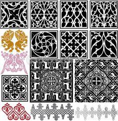 Medieval patterns pack by Maksim Hintau - Stock Vector