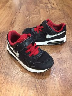 Nike Air Max ST Toddler Boy s Size 10 Athletic Tennis Sneaker Shoes Black  Red  fashion 88a24139a1