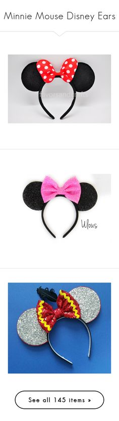 """""""Minnie Mouse Disney Ears"""" by adorablequeen ❤ liked on Polyvore featuring accessories, hair accessories, hair, hats, disney, grey, headbands & turbans, bow headbands, headband hair accessories and turban headband"""
