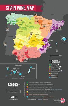 Spain Wine Region Map