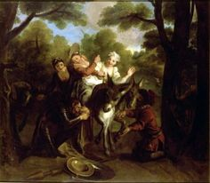 Story of Don Quixote - Don Quixote Deceived by Sancho, Takes a Country Girl for Dulcinea - Charles-Antoine Coypel IV - The Athenaeum