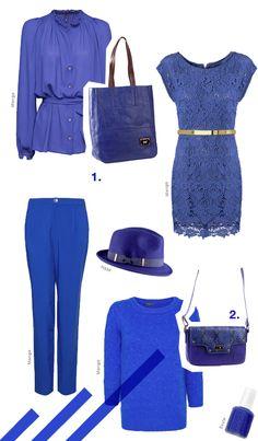 Azul cobalto Moda Otoño invierno 2013 Fashion