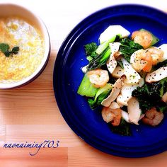 Le Creuset  *海老と青梗菜の中華塩炒め