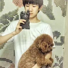 Wang Yuan up weibo(2015-09-09) Trans: kì lạ là 1 chú chó Teddy sao có thể biến thành...một chú gấu Teddy  được vậy Nguồn trans:Wang Yuan Vietnamese Fanpage Nguồn ảnh:@TFBOYs-Wang Yuan #wangyuan #wangjunkai #yiyangqianxi #tfboys #roywang #karrywang #jacksonyi #vươngnguyên #vươngtuấnkhải #dịchdươngthiêntỉ