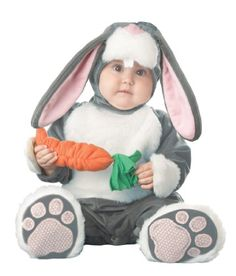 Amazon.com: Lil Characters Infant Bunny Costume, Dark Grey/White/Pink: Clothing