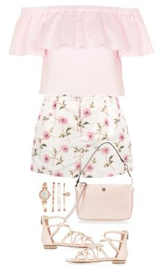 """Printed Shorts"" by terry-tlc ❤ liked on Polyvore featuring Topshop, RED Valentino, Coccinelle and Anne Klein"
