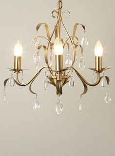 Leaf And Pear 3 Light Chandelier