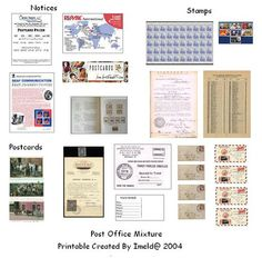 Post Office Mini Printables - Sherree - Picasa Webalbums
