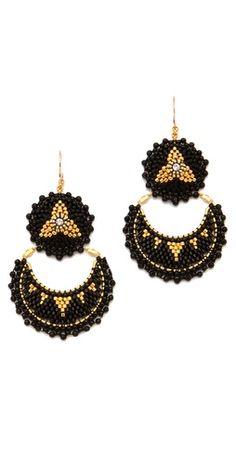 Miguel Ases Onyx Double Drop Earrings
