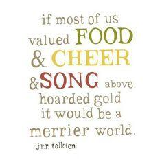 Agree? #tolkien #foodie #foodofinstagram #foodquotes