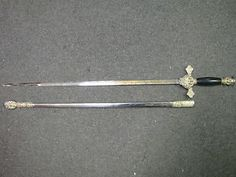 Antique-Vintage-American-Knights-Of-Columbus-Fraternal-Blade-Sword-And-Scabbard
