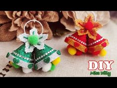 Foam Christmas Ornaments, Christmas Presents To Make, Christmas Bells, All Things Christmas, Christmas Decorations, Foam Sheet Crafts, Foam Crafts, Easy Crafts, Crafts For Kids