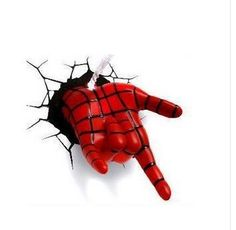 86.99$  Watch now - http://alitdn.worldwells.pw/go.php?t=32789942431 - creative Children Christmas gift Dream master comic cartoon superhero marvel spider man mask LED wall lamp bedroom light party