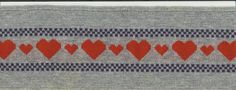 Hearts Rib Trim 4 Inches Wide X 35 Inches Long by DonnasStuffMore on Etsy