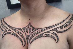 Tribal Chest Tattoos, Maori Tattoo Designs, Maori Art, Body Is A Temple, Chest Piece, Tattoo Inspiration, Tattoos For Women, Tatting, Body Art