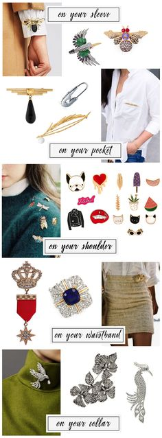 Career Style: Five Ways to Style Brooches | Capitol Hill Style | Bloglovin'