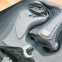 paper sculpture Layered Paper Portraits by Shelley Castillo Garcia - Inspiration Grid 3d Paper Art, Paper Artwork, Paper Paper, Paper Mache Sculpture, Sculpture Art, Cut Out Art, Kirigami, Art Plastique, Art Projects