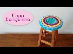 Capa para banquinho (crochê) - YouTube