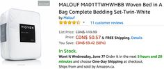 Amazon Canada Deals: Save 58% on Malouf Woven Bed in A Bag Complete Bedding Set & 25% on Nespresso Vertuo Coffee... http://www.lavahotdeals.com/ca/cheap/amazon-canada-deals-save-58-malouf-woven-bed/209217?utm_source=pinterest&utm_medium=rss&utm_campaign=at_lavahotdeals