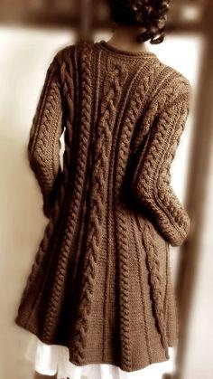 Mocha Knitted Cardigan | fall style.