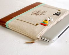 13 inch Laptop Bag, MacBook Pro Case, Personalized Laptop Cover, Laptop Sleeve, Custom Macbook Case, Monogrammed Case