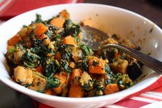 Sweet Potato, Eggplant, And Spinach Madras Curry ...might replace the eggplant with something more in season ;)