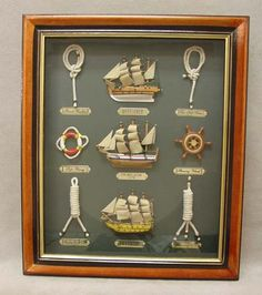 Gotta remember to learn how to tie all the Navy and nautical knots and display them in a shadow box.