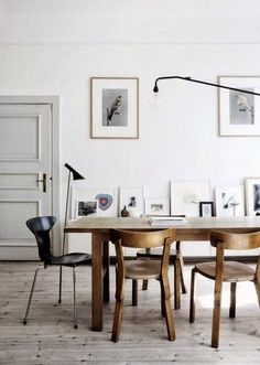 Scandinavian style interior | dining room