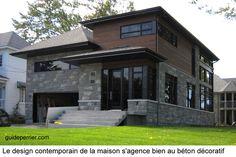Maison neuve: béton décoratif pour murs, planchers et comptoirs