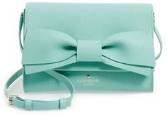 kate spade new york 'clement street - francie' textured leather clutch - Blue