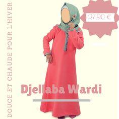 b1ec9ff136c Djellaba Wardi girl - Al Moultazimoun  Boutique  muslim  kids -  girl -