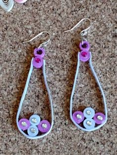 Paper Quilled Earrings, Filagree, Purple Lavendar Earrings, Paper Quilled Jewelry, Jewelry, Earrings