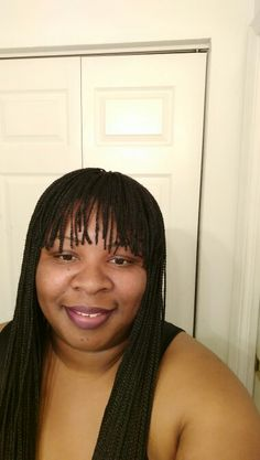 Box Braided Wig with bang