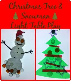 Christmas Tree snowman Light Table Play
