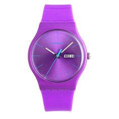 EPOZZ kids Neon Color Rubber Quartz Watch purple *** Unbelievable  item right here!