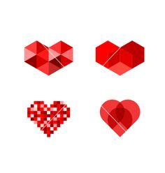 Heart symbols on VectorStock