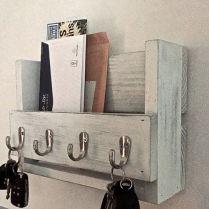 The Nuiances Of Entryway Organizer Mail Key Holder Coat Rack Key Hooks Wall Coat Hook Shelf 210 Coat Hook Shelf, Coat Hooks On Wall, Diy Coat Hooks, Key Hook Rack, Key Hooks, Key Hook Diy, Mail And Key Holder, Wall Key Holder, Key Holders