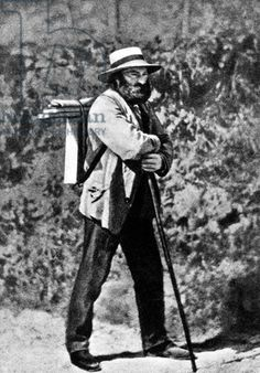Paul Cezanne, 1873 (b/w photo)
