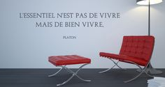 Sticker Citation La vie selon Platon