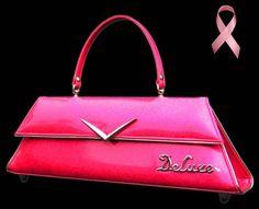 retro pink handbag