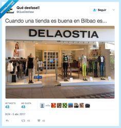 """alochucknorris: """"La principal cadena de tiendas en Bilbao, por @Qudesfase Visto en Visto en las Redes ¿No puedes ver el contenido? Visualiza la publicación original en la web del autor haciendo clic en este enlace. """" Imagenes de humor"""