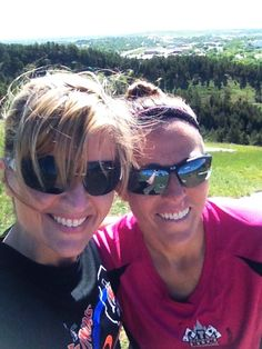 My BEAST RUNNER cousin Amy! She is a cheetah, I can only dream of her running skills... But she was good enough to stick back with me on a trip up Hill M in Rapid City, SD. BEAUTIFUL!!!