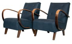 Pair of Bentwood Armchairs by Jindrich Halabala c.1940