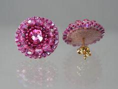 Swarovski Pink Rosen ZIERLICHE Blume Stud von createdbycarla