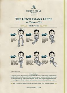 How to tie a Bow Tie. Always good to know.