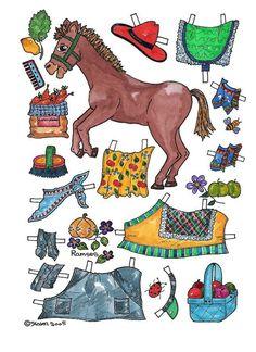 Pony paper dolls 32