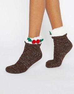 ASOS   Носки с отделкой в стиле рождественского пудинга ASOS