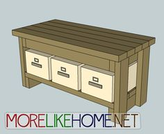 More Like Home: Day 9 - Build a Bench with 2x4s