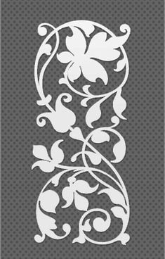 Stencils or stencil patterns are not something that is considered very favorably by those who are artistically skilled or talented because they are a shortcut for creating something of your own. Stencils, Stencil Art, Stencil Designs, Damask Stencil, Printable Stencil Patterns, Stencil Templates, Diy And Crafts, Paper Crafts, Kirigami